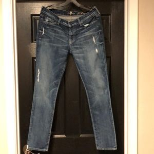 7 for all mankind Josefina distressed size 30